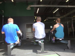 rowing from behind